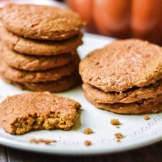 Pumpkin Spice Cookies on Plate