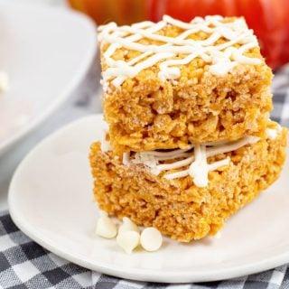 Pumpkin Spice Rice Krispie Treats Idea