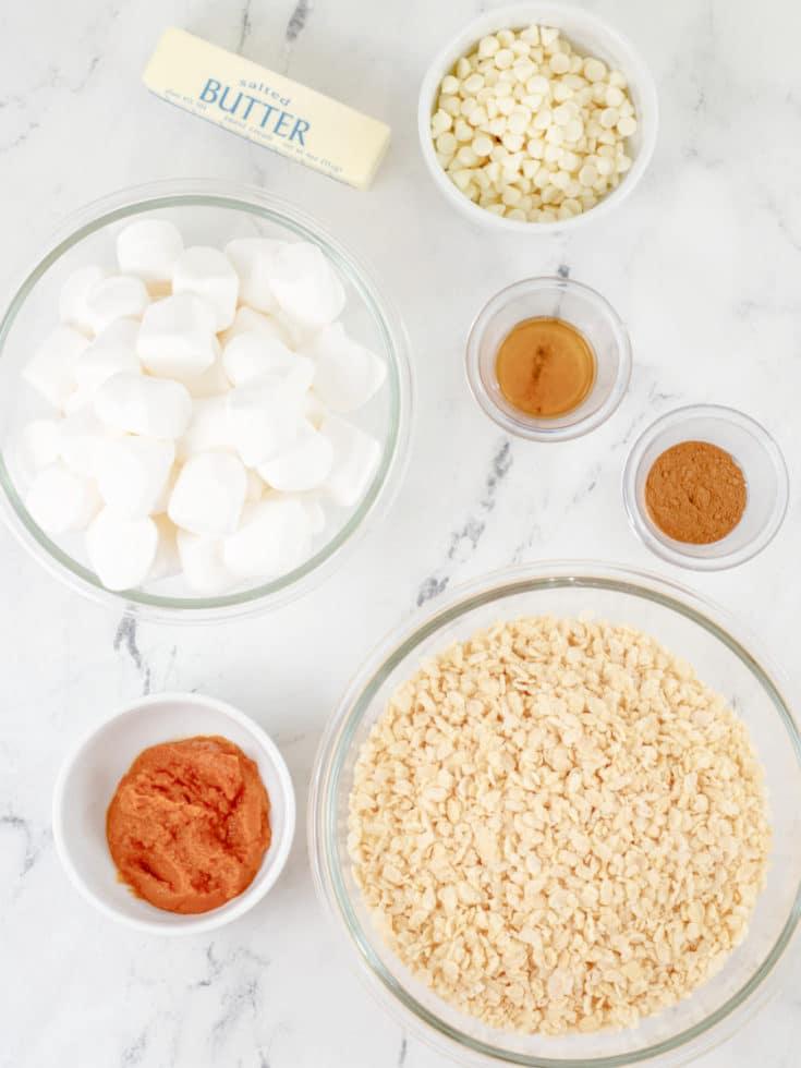 Pumpkin Spice Rice Krispie Treats Ingredients