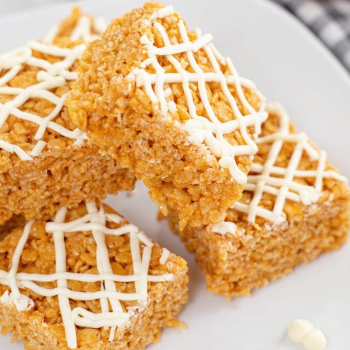 Pumpkin Spice Rice Krispie Treats Recipe