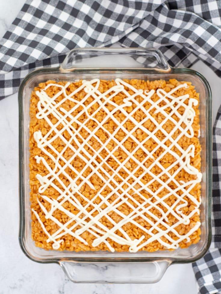 Pumpkin Spice Rice Krispie Treats with Icing