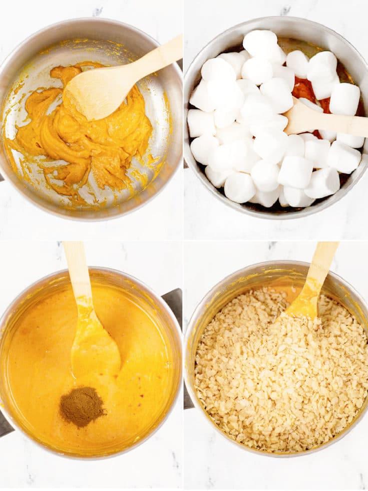 Pumpkin Spice treats steps