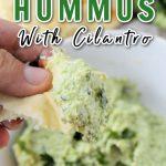 edamame hummus with cilantro