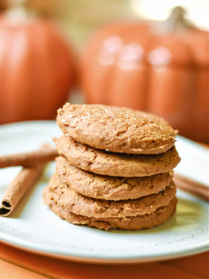 fall cookies on a plate