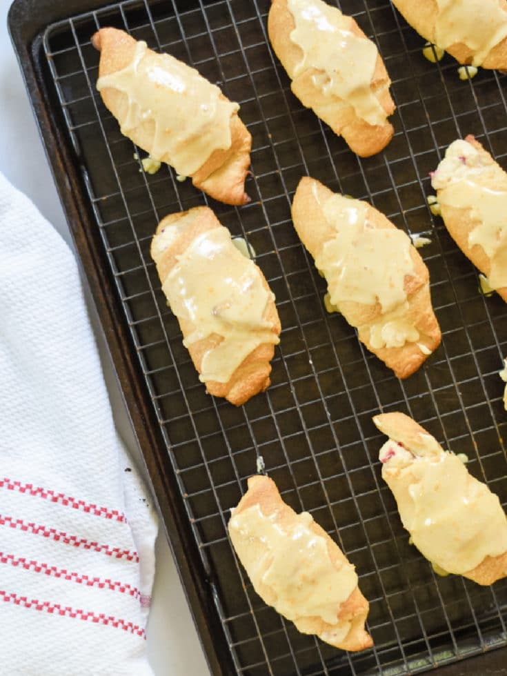 glazed crescent rolls