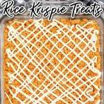 pumpkin rice krispie treats in pan