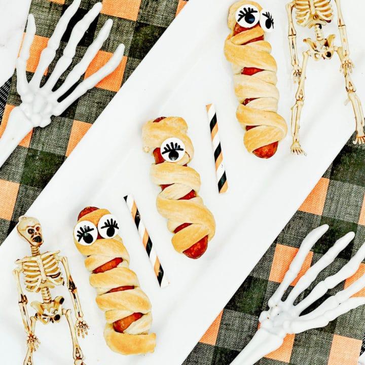 Crescent roll mummy dogs
