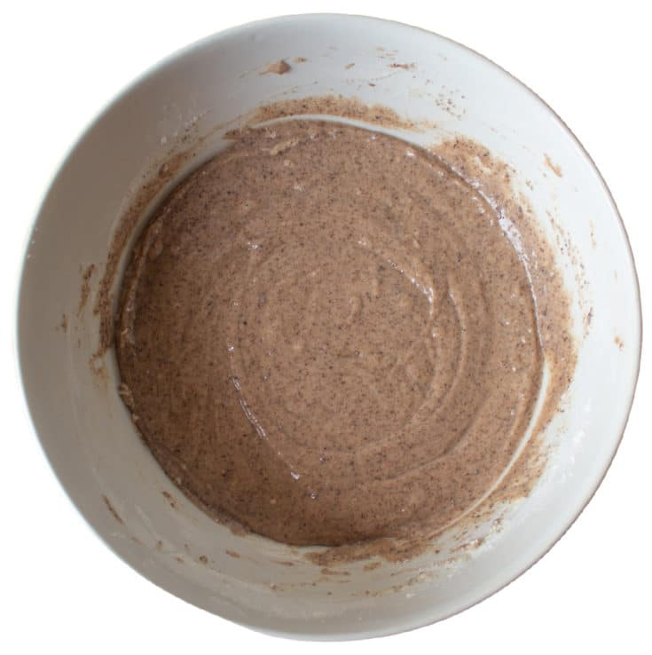 batter mixed in bowl