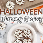 halloween chocolate mummy cookies