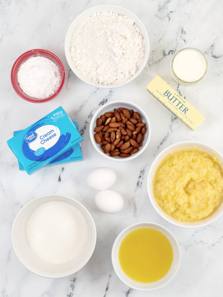 Pineapple Cheesecake Bar ingredients